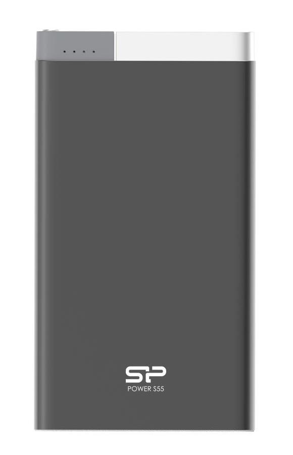 SILICON POWER Power Bank S55 5000mAh, USB, Micro/Lightning Input, Black - SILICON POWER 16187