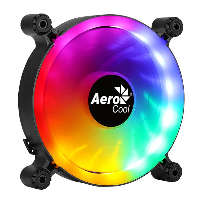 AEROCOOL LED ανεμιστήρας SPECTRO-12, molex connector, 120mm, FRGB - AEROCOOL 43101