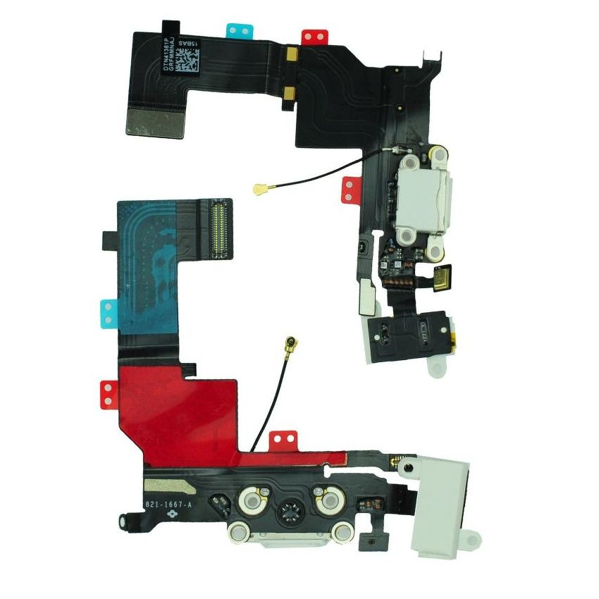 Dock connector flex cable για iPhone 5S, White - UNBRANDED 18848