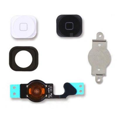 Πλήκτρα Home button με Flex SPIP5-092 για iPhone 5, λευκό & μαύρο - UNBRANDED 29104