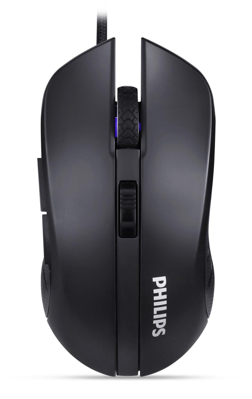 PHILIPS ενσύρματο gaming ποντίκι SPK9313, 2400DPI, 6 πλήκτρα, μαύρο - PHILIPS 22348