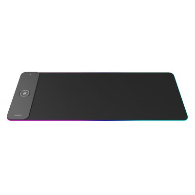 PHILIPS Gaming Mousepad SPL7604, wireless charger, LED backlit, 80x30cm - PHILIPS 27294