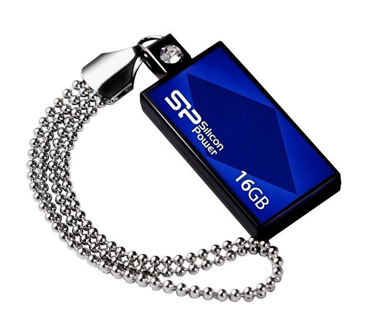 SILICON POWER USB Flash Drive Touch 810, 16GB, USB 2.0, Blue - SILICON POWER 2296