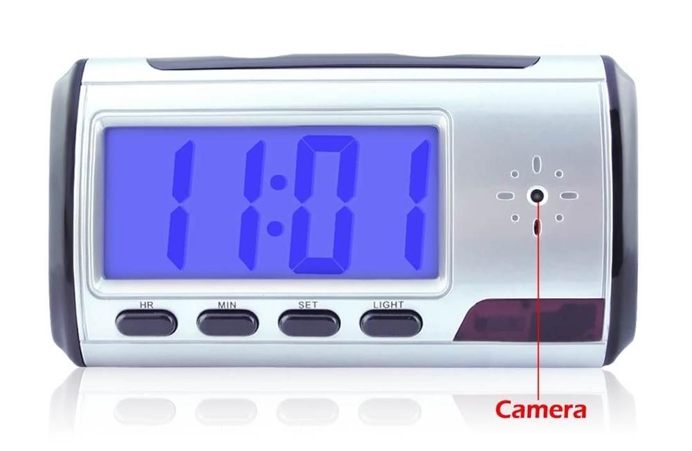 Επιτραπέζιο ψηφιακό ρολόι με κρυφή κάμερα, Silver - UNBRANDED 14785