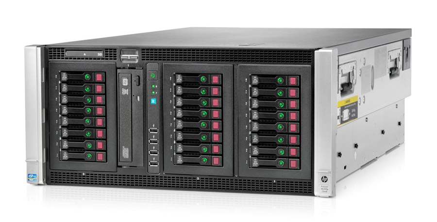 HP used Server ML350 Gen8 E5-2609, 8GB, P410i/512MB, 2x PSU, DVD - HP 13853