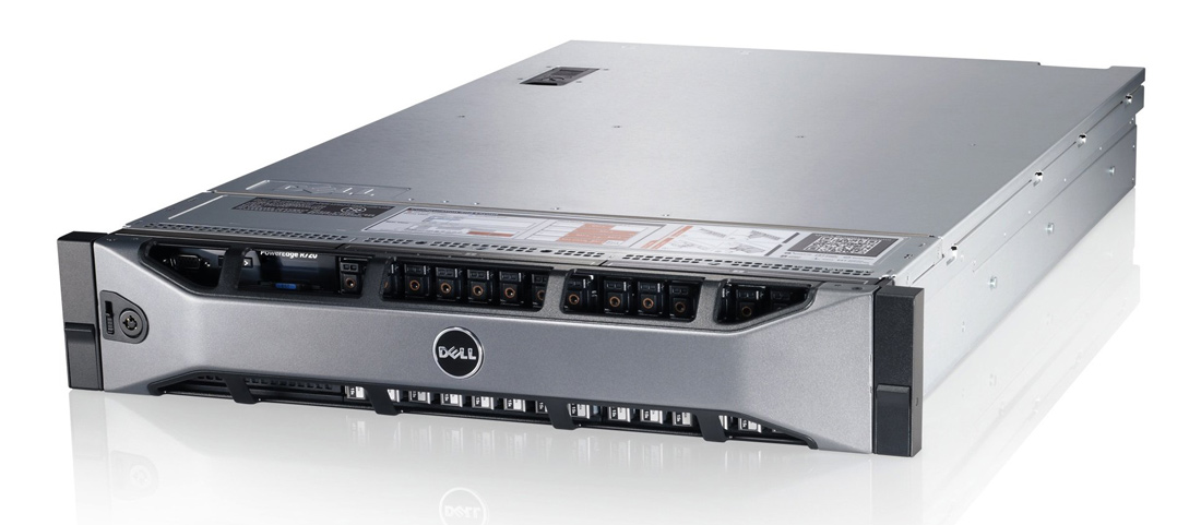 DELL PowerEdge R720, 2x E5-2620, 16GB, DVD, 2x 750W, 8x SFF, REF - DELL 23061