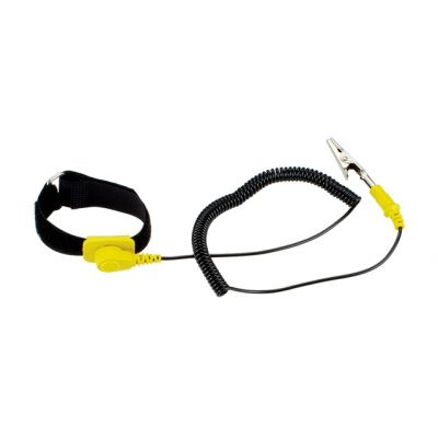 SPROTEK ESD Αντιστατικό Καρπού ST-A601 με Velcro, Κίτρινο-Μαύρο - SPROTEK 8473