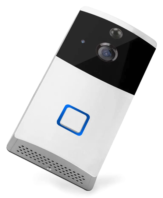 SECTEC smart κουδούνι με κάμερα ST-WD03-TY, WiFi, 1080p, PIR, λευκό - SECTEC 39707