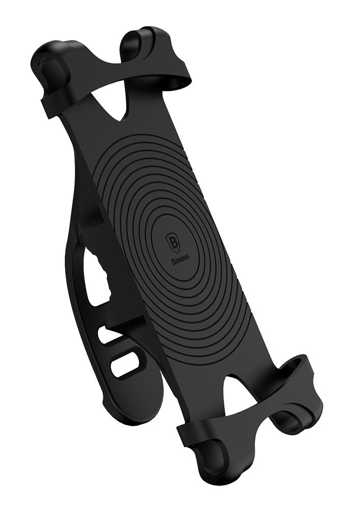 BASEUS βάση ποδηλάτου για smartphone SUMIR-BY01, λαστιχένια, μαύρη - BASEUS 25446