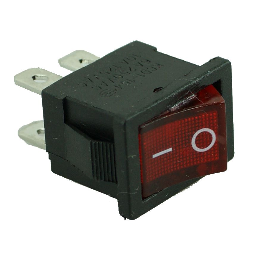 SWITCH ON OFF - 4PIN, Plastic, Black/Red - UNBRANDED 10014