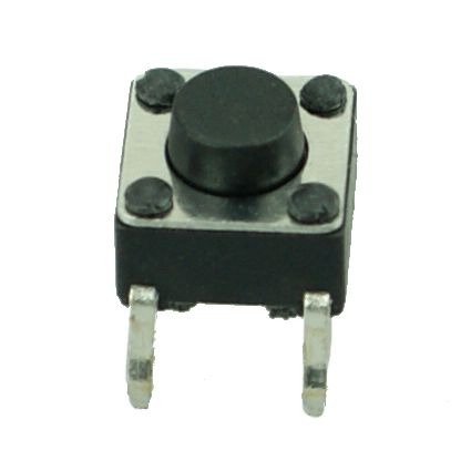 DIP SWITCH 4 PIN, Nickel Body, Plastic Button, Silver/Black - UNBRANDED 10013