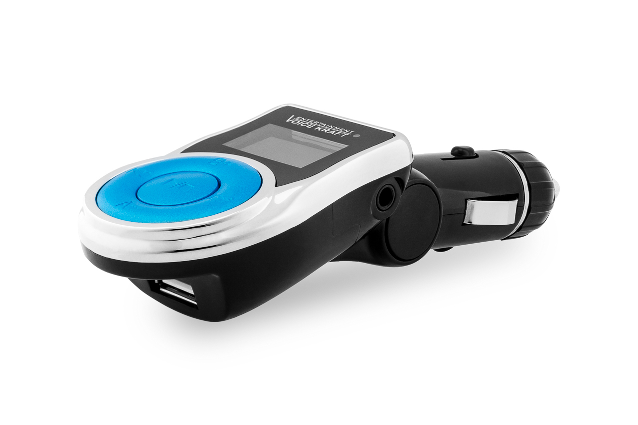 VOICE KRAFT FM Transmitter T-663C με LCD οθόνη, USB, SD, μαύρο - UNBRANDED 22986