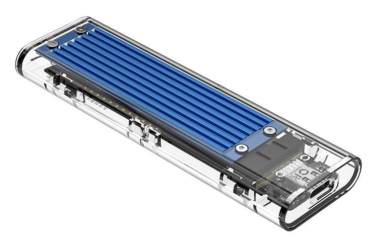 ORICO θήκη για Μ.2 B key SSD TCM2M-C3, USB3.1, 10Gbps, 2TB, μπλε - ORICO 37192
