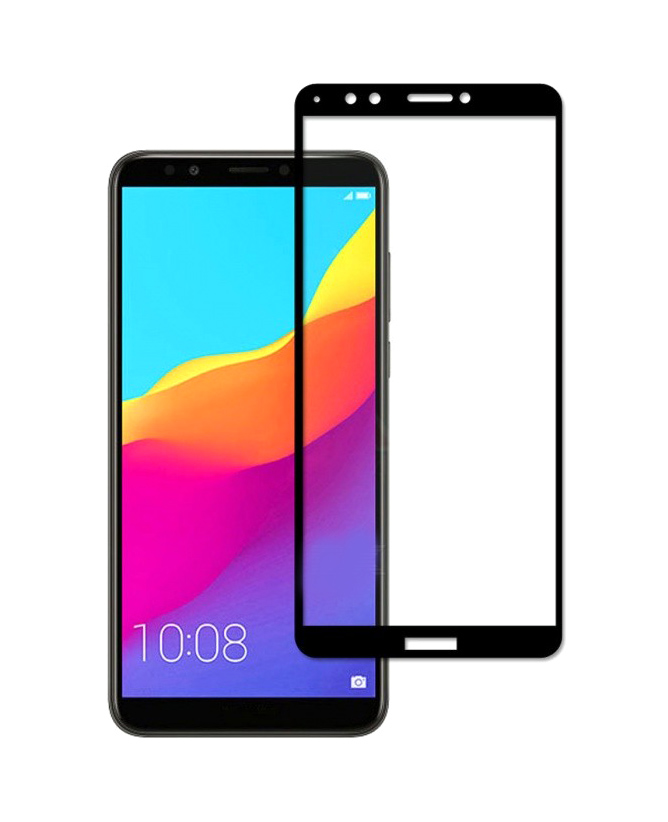 POWERTECH Tempered Glass 3D για Huawei Y7 & Y7 Prime (2018), μαύρο - POWERTECH 20434