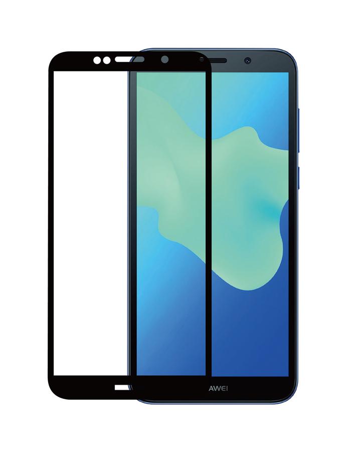 POWERTECH Tempered Glass 3D για Huawei Y5 & Y5 Prime (2018), μαύρο - POWERTECH 20436