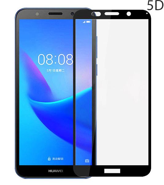 POWERTECH Tempered Glass 5D Full Glue για Huawei Y5 /Y5 Prime , Black - POWERTECH 23635