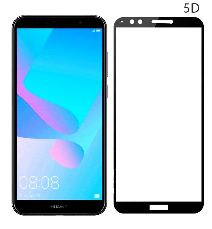 POWERTECH Tempered Glass 5D Full Glue για Huawei Y7 /Y7 Prime, Black - POWERTECH 23637