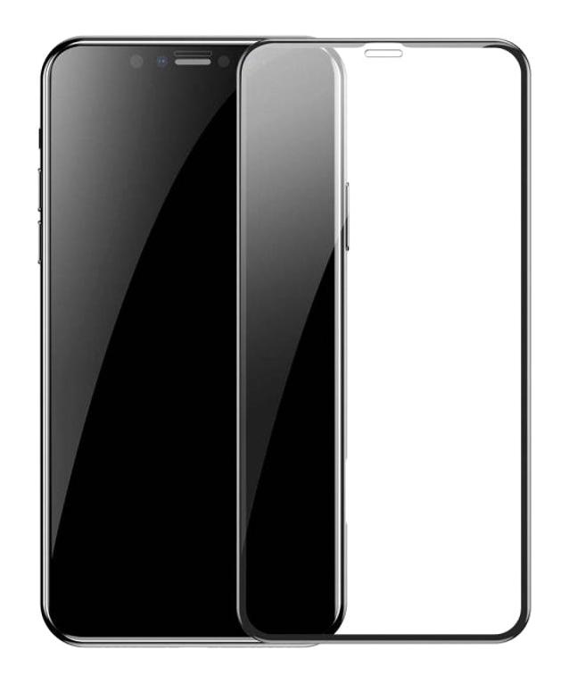 POWERTECH Tempered Glass 3D Full face για iPhone 11, titanium, μαύρο - POWERTECH 26501