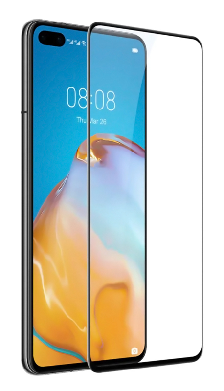 POWERTECH Tempered Glass 5D, full glue, για Huawei P40 Pro+, μαύρο - POWERTECH 30418