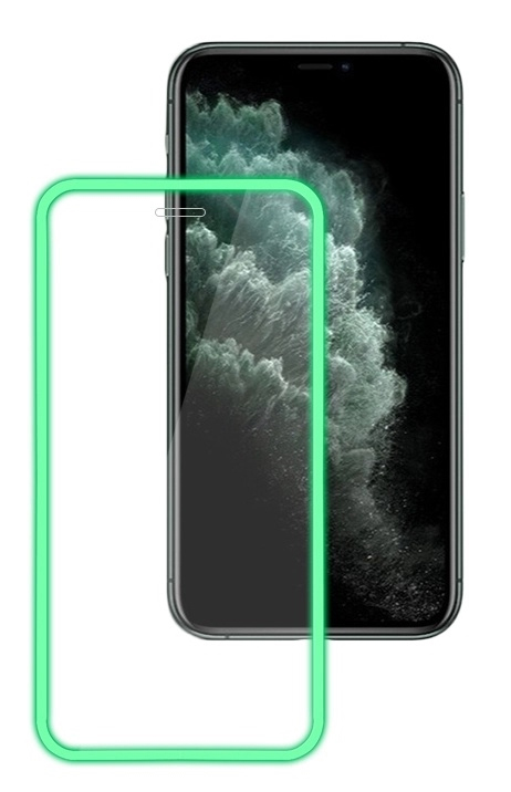 POWERTECH Tempered Glass 5D, φωσφοριζέ, full glue, για iPhone XS Max - POWERTECH 31134