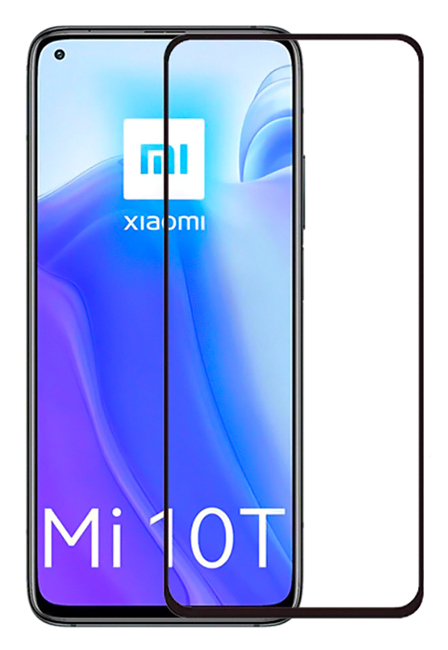 POWERTECH Tempered Glass 5D, full glue, Xiaomi Mi 10T/Lite/Pro 5G, μαύρο - POWERTECH 36056