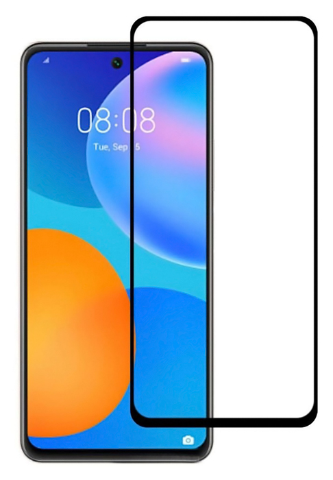 POWERTECH Tempered Glass 5D, full glue, Huawei P smart 2021, μαύρο - POWERTECH 36057