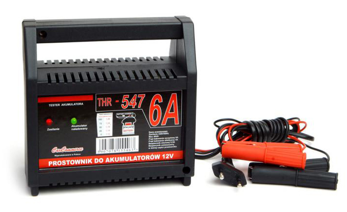 Φορτιστής μπαταριών 12V/6A URZ0370, με LED ένδειξη και ασφάλεια - UNBRANDED 31536