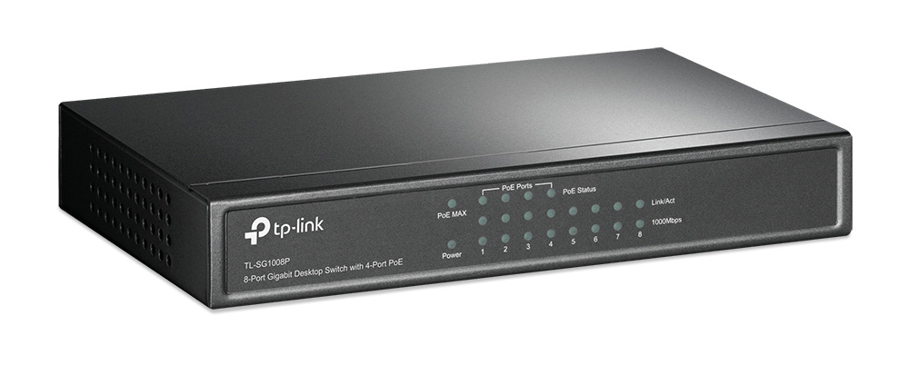 TP-LINK 8-Port Gigabit Desktop Switch TL-SG1008P, 4-Port PoE, Ver. 3.0 - TP-LINK 21619