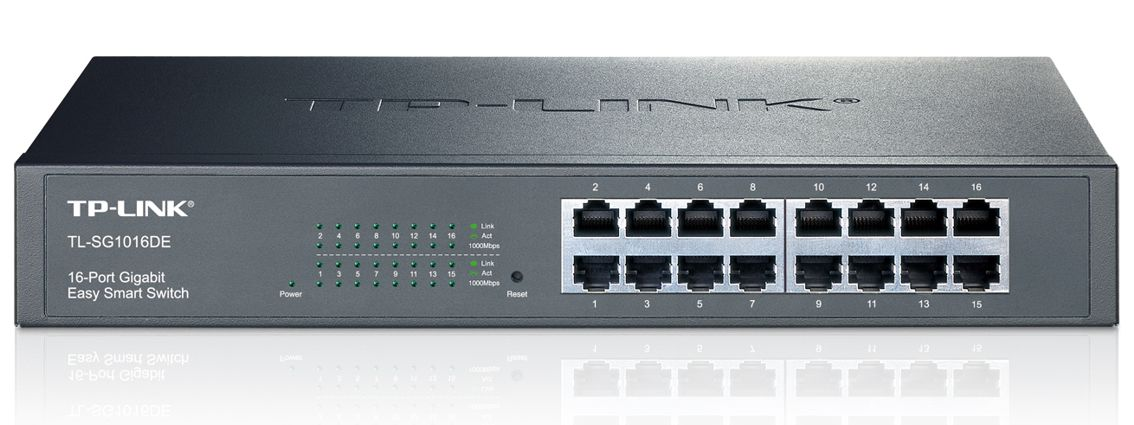 TP-LINK 16-Port Gigabit Easy Smart Switch - TP-LINK 6645 v2
