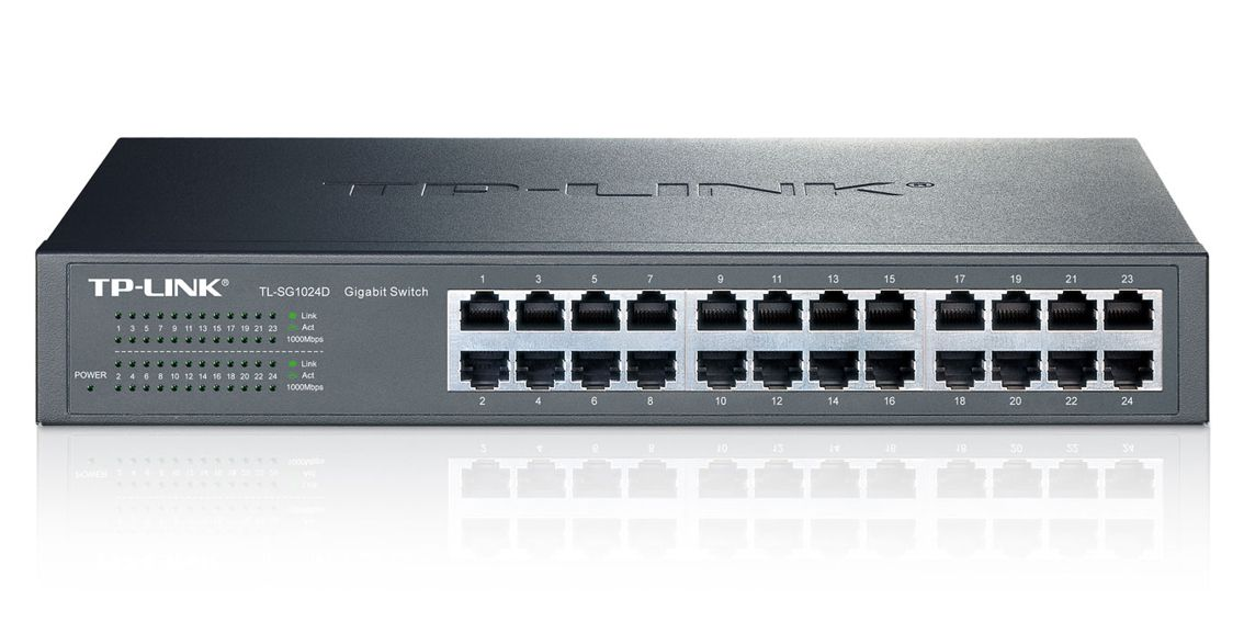TP-LINK Gigabit Desktop Switch - TL-SG1024D - TP-LINK 5901 v1