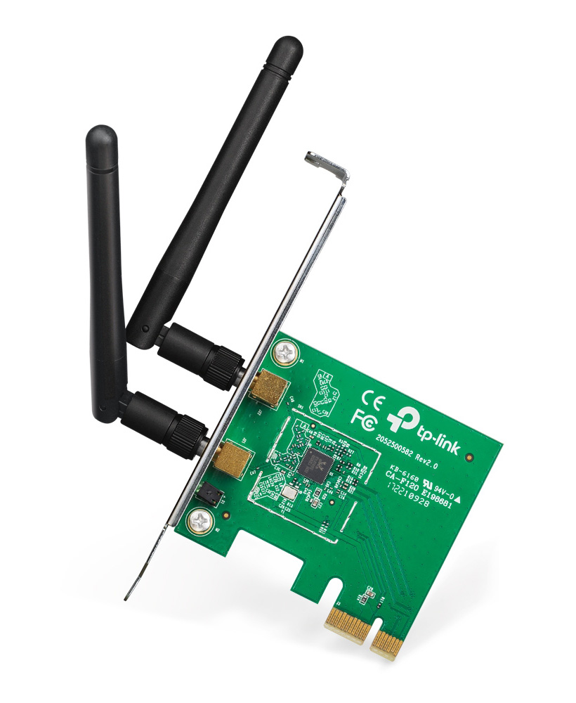 TP-LINK Ασύρματο N PCI Adapter TL-WN881ND, 300Mbps, WPA/WPA2, Ver. 2.0 - TP-LINK 22352
