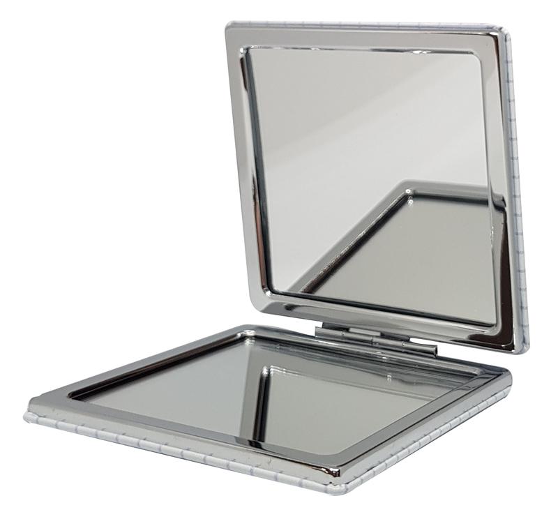 Καθρεφτάκι τσάντας Brown piano TMV-0007-2, 2x & 4x zoom, 8x8cm - UNBRANDED 29242