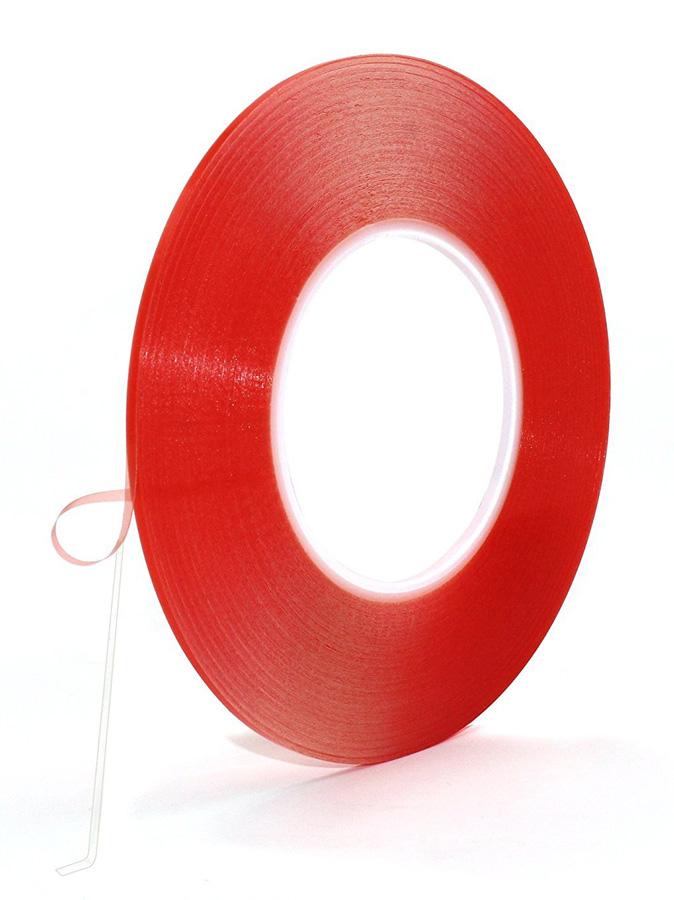 Ταινία διπλής όψεως, σιλικόνης, για μηχανισμούς αφής, 1mmx5m, κόκκινη - UNBRANDED 23317