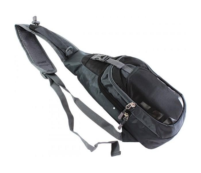 Τσάντα Crossbody TR13, αδιάβροχη, γκρι-μαύρο - UNBRANDED 23127