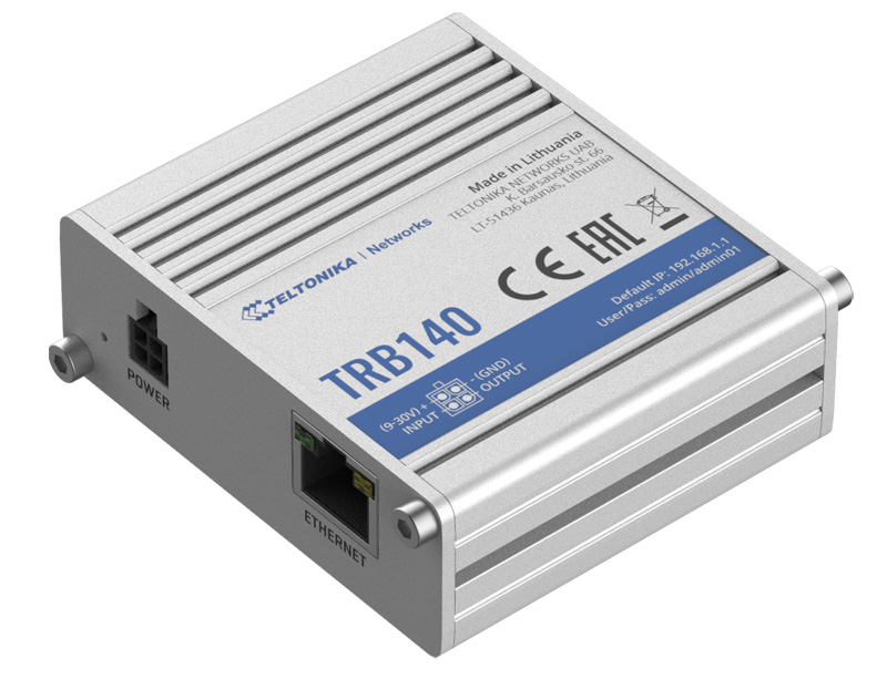 TELTONIKA industrial rugged LTE gateway TRB140, 4G LTE Cat 4 - TELTONIKA 33022