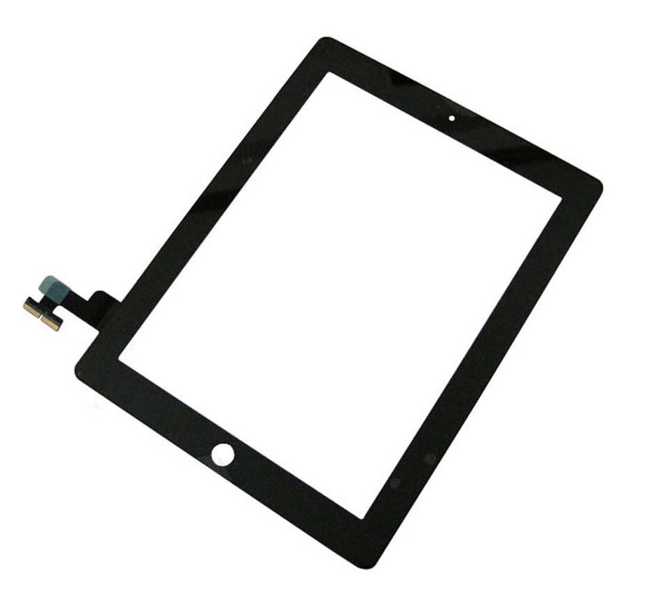 Touch Panel - Digitizer High Copy for iPad 2, with tape, Black - UNBRANDED 7840