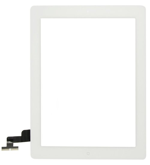 Touch Panel - Digitizer High Copy for iPad 2, with tape, White - UNBRANDED 7841