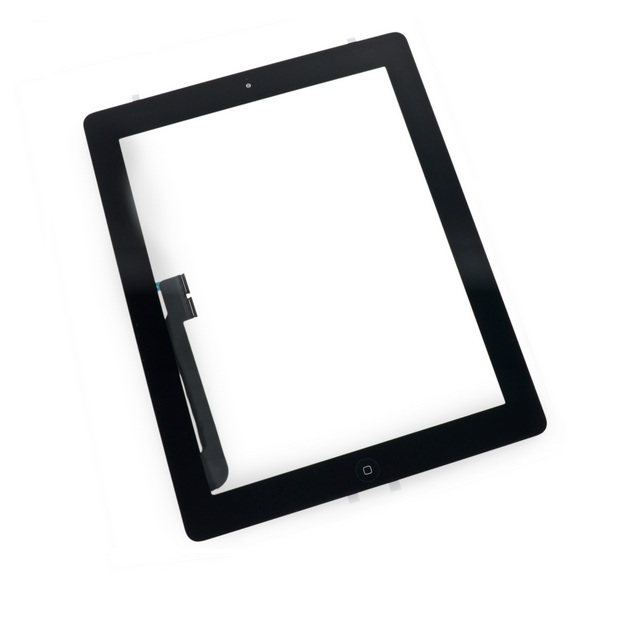 Touch Panel - Digitizer High Copy for iPad 4, with tape, Black - UNBRANDED 7836