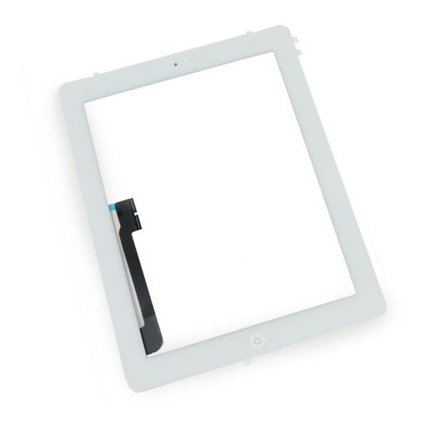 Touch Panel - Digitizer High Copy for iPad 4, with tape, White - UNBRANDED 7837