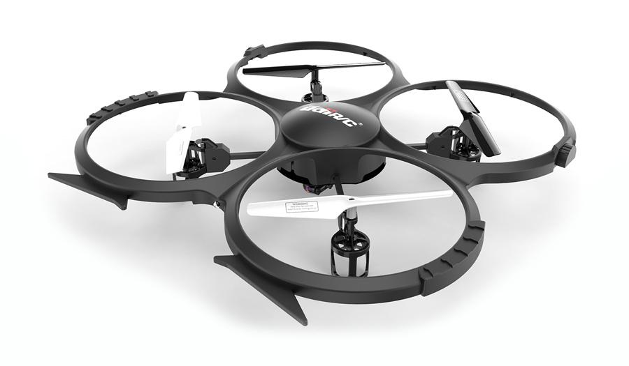 UDIRC Drone U818A HD, HD Camera 30fps, LCD controller, 6-Axis, μαύρο - UDIRC 18179