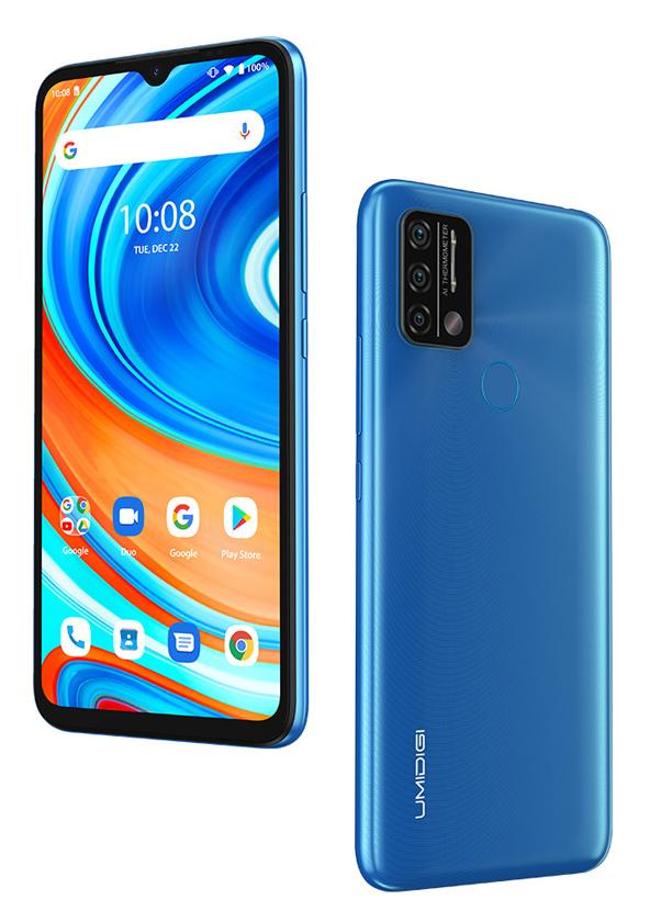 "UMIDIGI Smartphone A9, 6.53"" HD+, 3/64GB, με θερμόμετρο, μπλε - UMIDIGI 37524"
