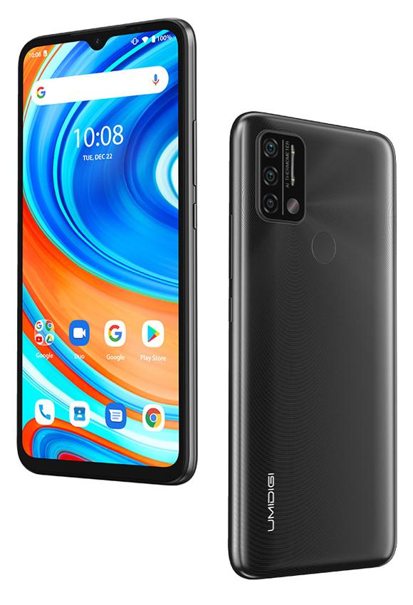 "UMIDIGI Smartphone A9, 6.53"" HD+, 3/64GB, με θερμόμετρο, γκρι - UMIDIGI 37523"