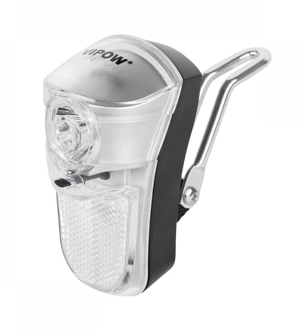 VIPOW Εμπρόσθιος φωτισμός ποδηλάτου URZ0049, ασημί - VIPOW 21559