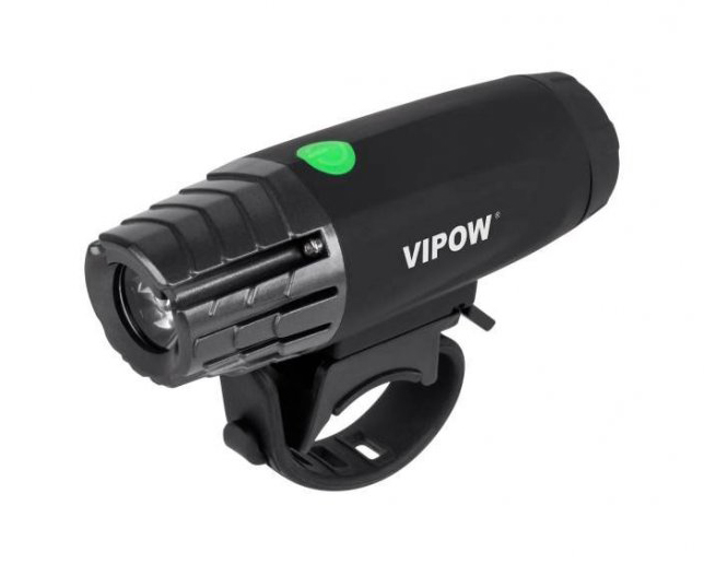 VIPOW εμπρόσθιο φως ποδηλάτου URZ0915, 3W, Toshiba LED, μαύρο - VIPOW 25826