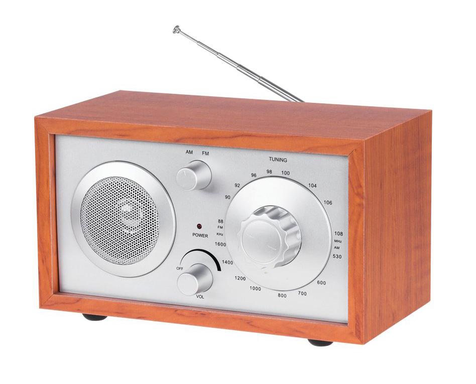 AZUSA φορητό ραδιόφωνο E-3023 με ηχείο, AM/FM, ξύλινο - AZUSA 25818