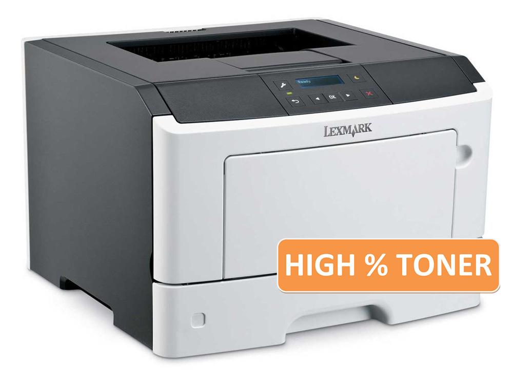 LEXMARK used Printer MS410DN, Laser, Mono, High Toner - LEXMARK 15802