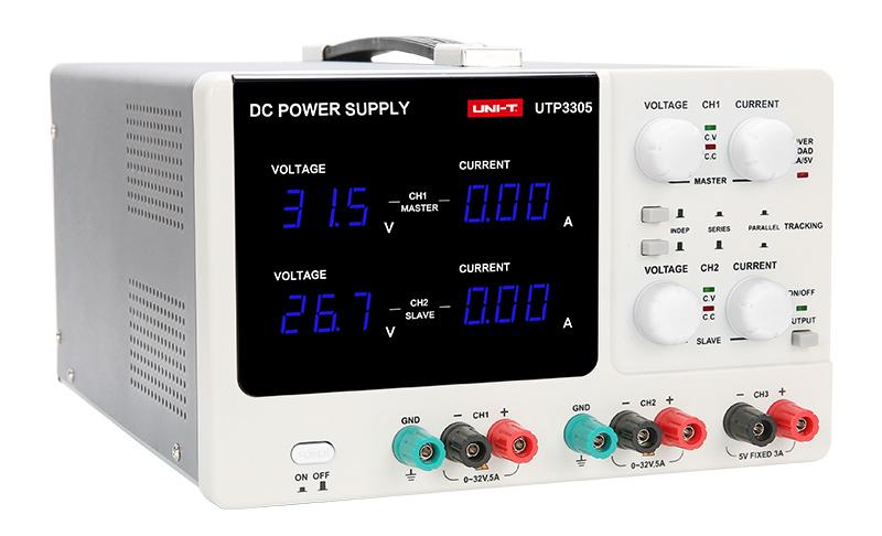 UNI-T DC Power supply UTP3305, 3 καναλιών, 2x 0~32V/5A, 1x 5V/3A - UNI-T 33129