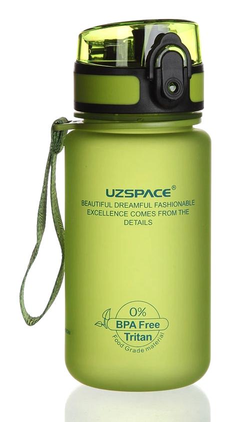 UZSPACE παγούρι νερού Colorful Frosted UZ-3034-GN, 350ml, πράσινο - UZSPACE 29455