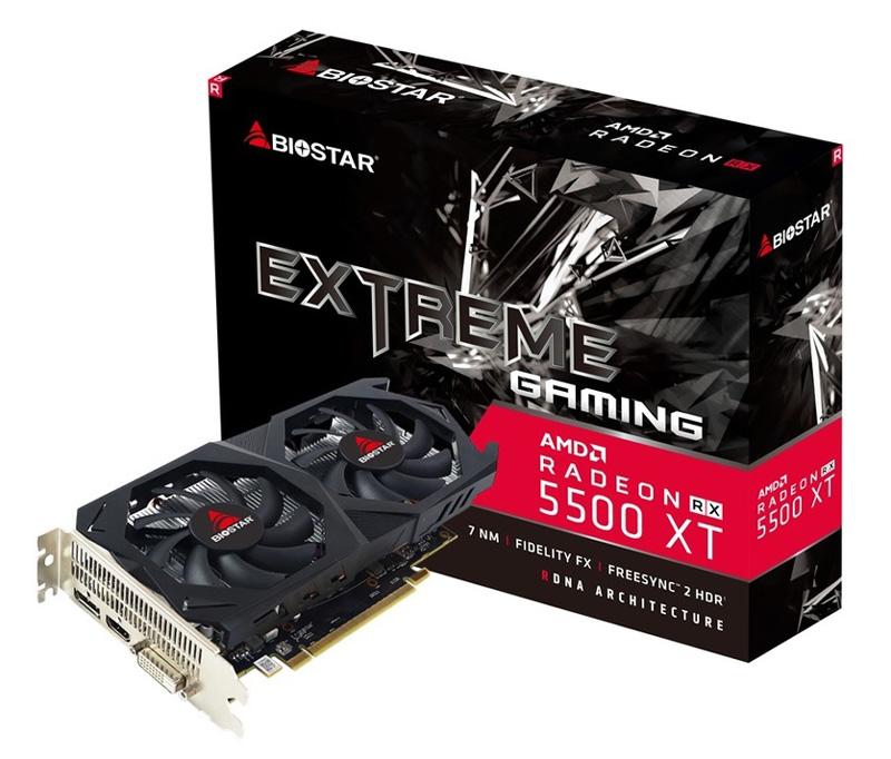 BIOSTAR VGA AMD Radeon RX5500XT VA55T6XF81, GDDR6 8GB, 128bit - BIOSTAR 31644