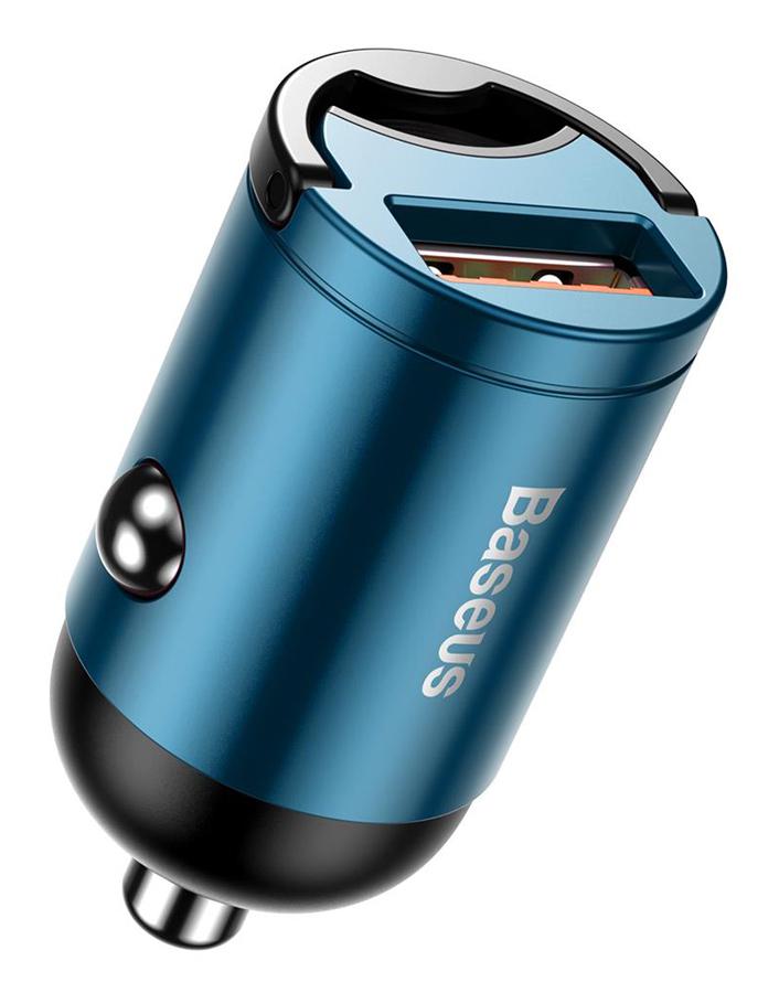 BASEUS φορτιστής αυτοκινήτου Tiny Star VCHX-A03, USB 30W, μπλε - BASEUS 27090